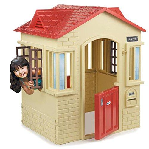 リトルタイクス ケープコテージ プレイハウス タン/据置型/室内屋外/大型遊具 送料無料(北海道・東北・