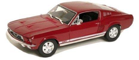 1967 Ford (フォード) Mustang (マスタング) GTA Fastback Red 1/18 ダイキャスト モデルカー ミニカー