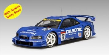 Nissan (日産) 2003 Skyline GTR R34 JGTC Round 8 Suzuka Version Calsonic #12 (Part: 80378) Autoart (
