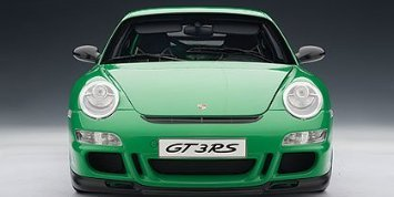 Porsche (ポルシェ) 997 GT3 RS (Green w/ Black Stripes) (Part: 12118) Autoart (オートアート) 1:12 ダ