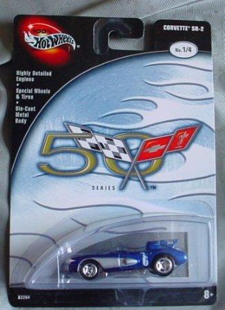 Hot Wheels (ホットウィール) 100% 50 Corvette シリーズ Corvette SR-2 1/4 BLUE ミニカー ダイキャスト