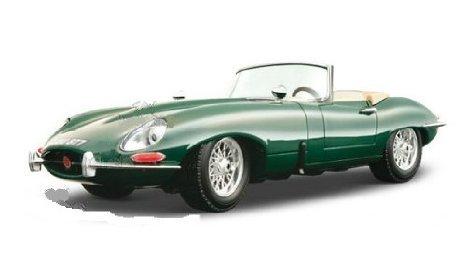 "BBurago Gold - Jaguar (ジャガー) ""E"" Cabriolet Convertible (1961, 1:18, Green) ダイキャスト model…"