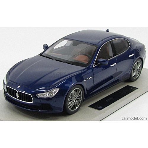 マセラティ ギブリ ミニカー 1/18 TOPMARQUES - MASERATI - GHIBLI 4-DOOR 2013 BLUE
