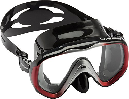 Cressi LIBERTY, Large Wide View Scuba Dive Snorkel Mask, Freedom of Vision