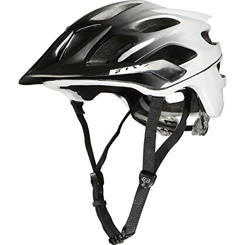 FOX フォックス Flux フラックス ヘルメット 自転車用 黒白 XS/S (50~54cm)