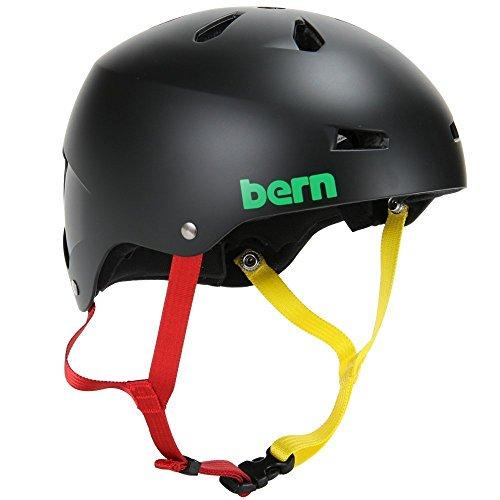 BERN バーン Macon メーコン XL Matte Black Rasta w/ Visor マットブラックラスタ VM2EMBKr サイクリング