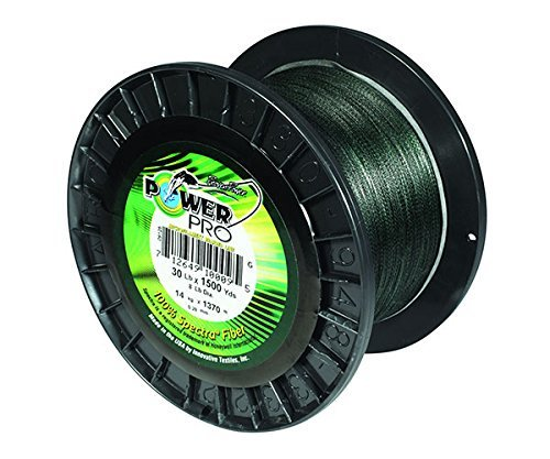 Power Pro 21100083000E Braided Spectra Fiber Fishing Line, 8 lb/3000 yd, Moss Green