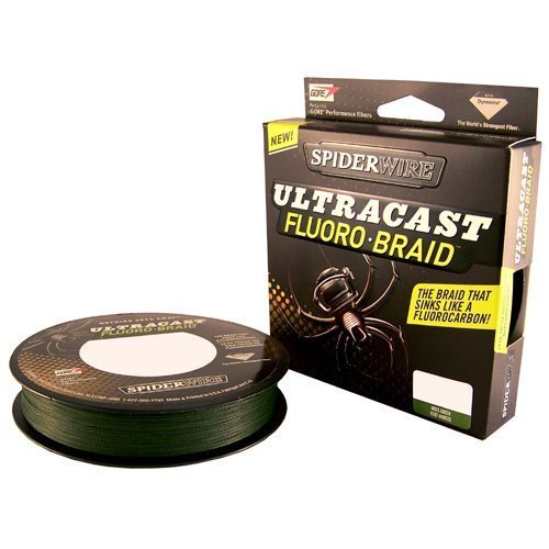 Spiderwire Ultracast Fluorobraid Line (30-Pound 300-Yards, Moss Green)