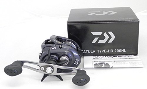 Daiwa Tatula Type HD 6.3:1 Baitcast Reel, Black, Left
