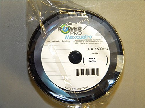 Power Pro 33400651500E Maxcuatro Braided Fishing Line, 65 lb/1500 yd, Moss Green
