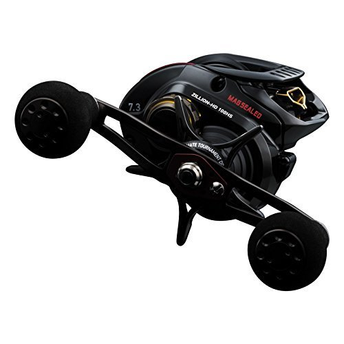 Daiwa ZLNHD100HS Test High Speed Baitcasting Fishing Reel, 14-16 lb, Black, Left