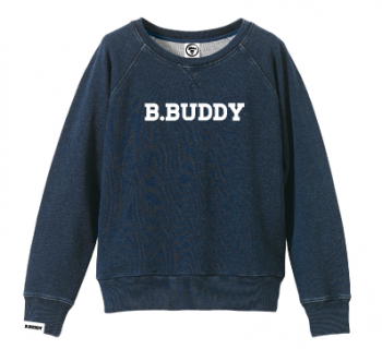 WSW16-001 WOMEN'S B.BUDDY  SWEAT【INDIGO】
