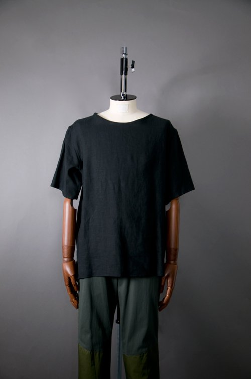Pullover Short-sleeve Shirt  Linen