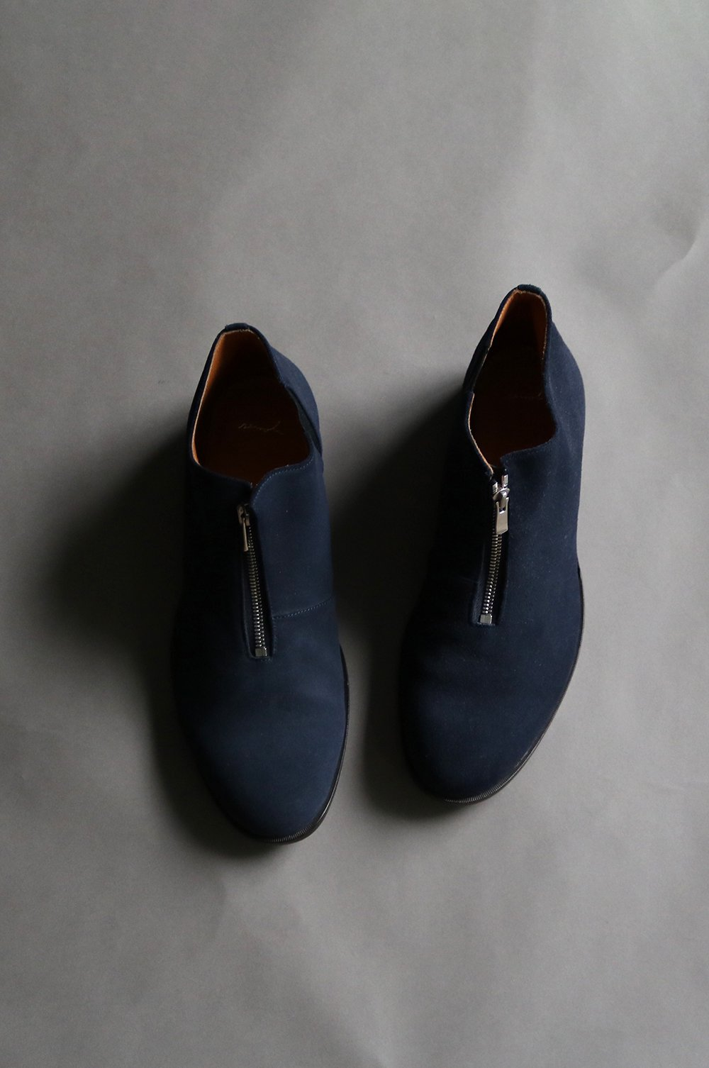 Suede Leather Zip Shoes