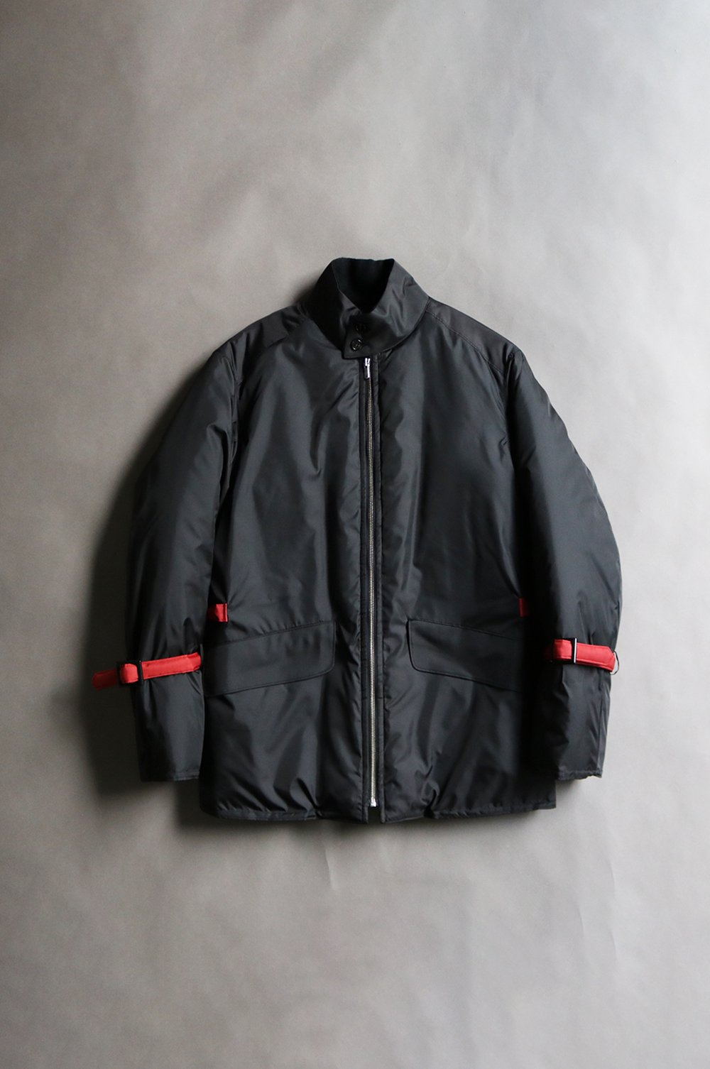 Stand collar batting blouson