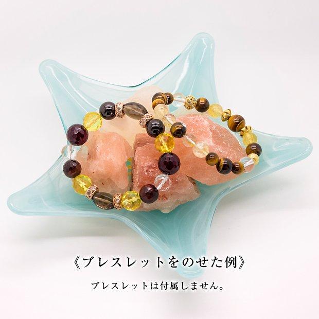 ステラ薫子オリジナル浄化プレート+ヒマラヤ岩塩 ルビーソルト