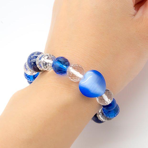 ステラ・母の日ブレスレットギフトセット《スカーフ+ラッピング付き》ブルー