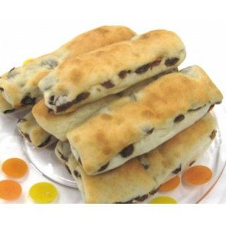 【注・小麦使用】レーズンスティック8個(乳・卵不使用の小麦パン)(トントンハウス) 【クール便(冷凍)】
