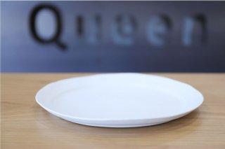馬場 勝文 白磁マットリムオーバル皿