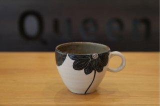 大谷桃子 黒ハスの花 マグカップ