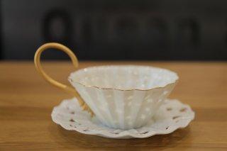 フクオカタカヤ komorebi teacup&saucer (芽吹)