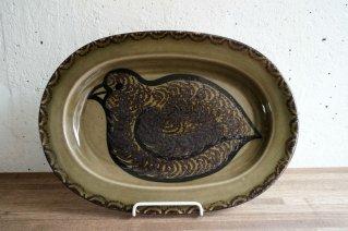 Arabia GOG Oval Plate (bird)  / アラビア グンヴァル・オリン・グランクヴィスト オーバルプレート