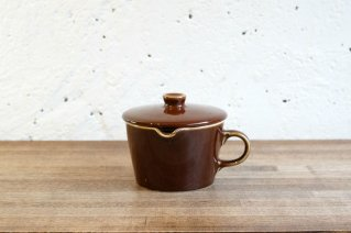 Arabia [ Kilta ] Creamer with Lid (Brown) / アラビア [ キルタ ] クリーマー蓋付き (茶)