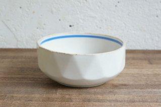 Arabia '30s OldArabia Bowl( Light Blue Line) / アラビア  1930年代 ライトブルーライン入り面取りボウル