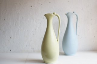 Arabia Flower Vase (Yellow Green) / アラビア  取っ手付き花瓶 ( イエローグリーン)