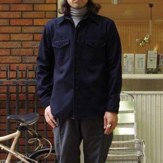 CORONA/コロナ NAVY 2 POCKET SHIRT ウールCPOシャツ