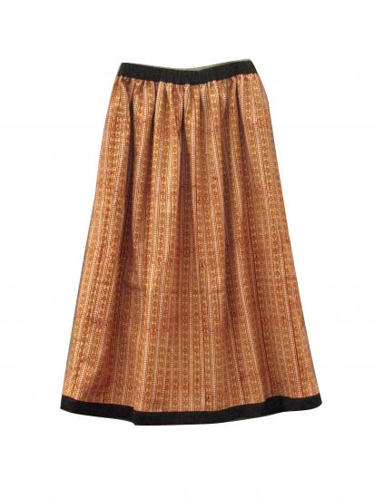 traditional ブロックプリントスカート イエロー
