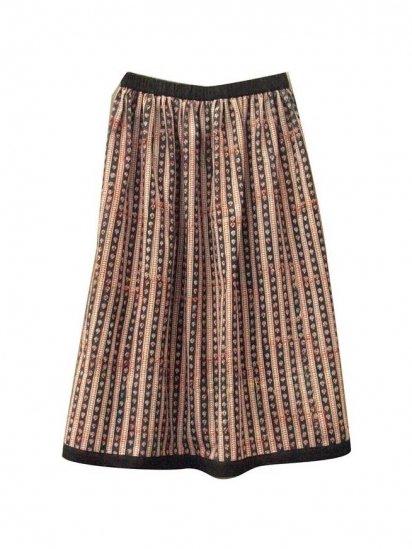 traditional ブロックプリントスカート グリーン