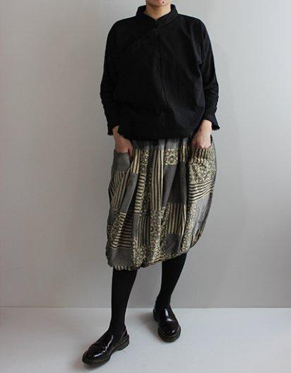 オーガニックコットンパッチワーク バルーンスカート