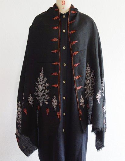 パシュミナ織り 手刺繍ストール