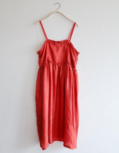 マルベリーシルク キャミソールドレス Red
