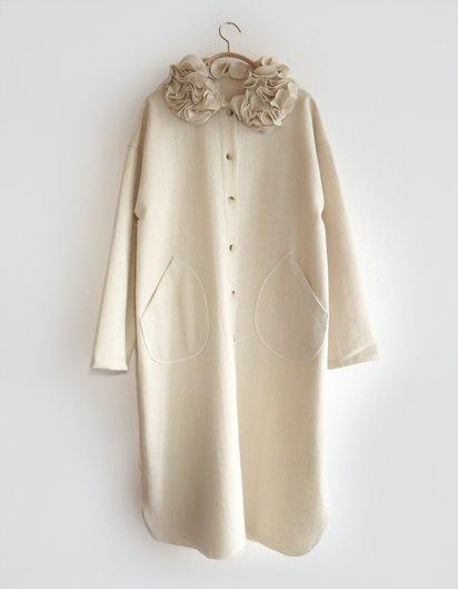 カシミール手織り花弁ブラウスジャケット
