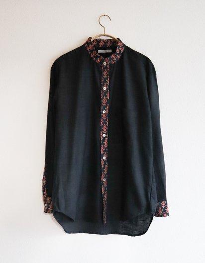 オーガニックコットン カディ メンズシャツ black