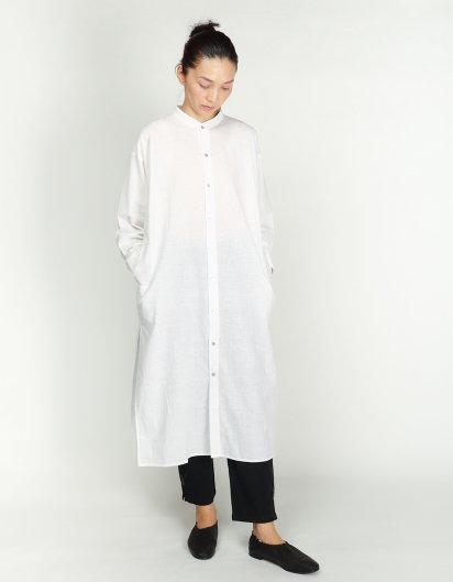カディ コットンユニセックスロングシャツ オーガニックコットン White