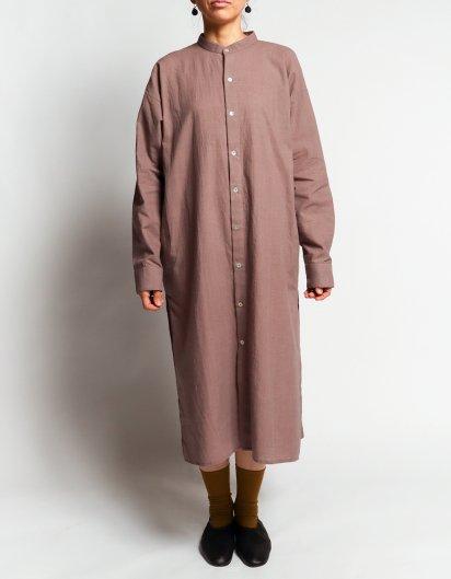 カディコットン ユニセックスロングシャツ Purple