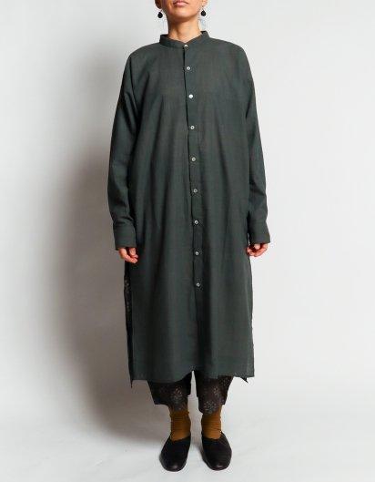 カディコットン ユニセックスロングシャツ Dark gray