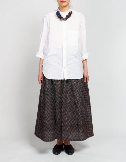サイドポケットスカート 鉄染オーガニックコットン ジグザグ