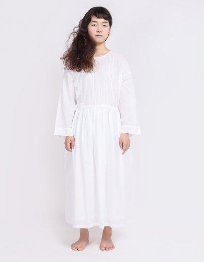 カディコットン ピンタックドレス WH