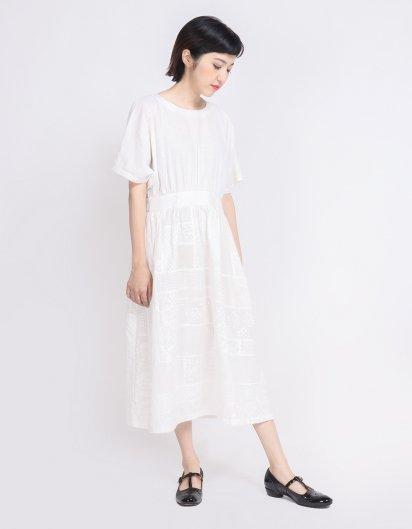 オーガニックコットン パッチワークドレス