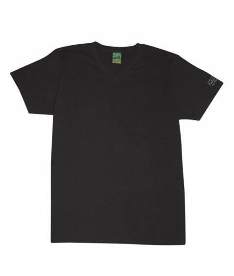 sleeve coop V-neck tee
