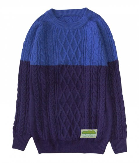 2 tone combination sweater