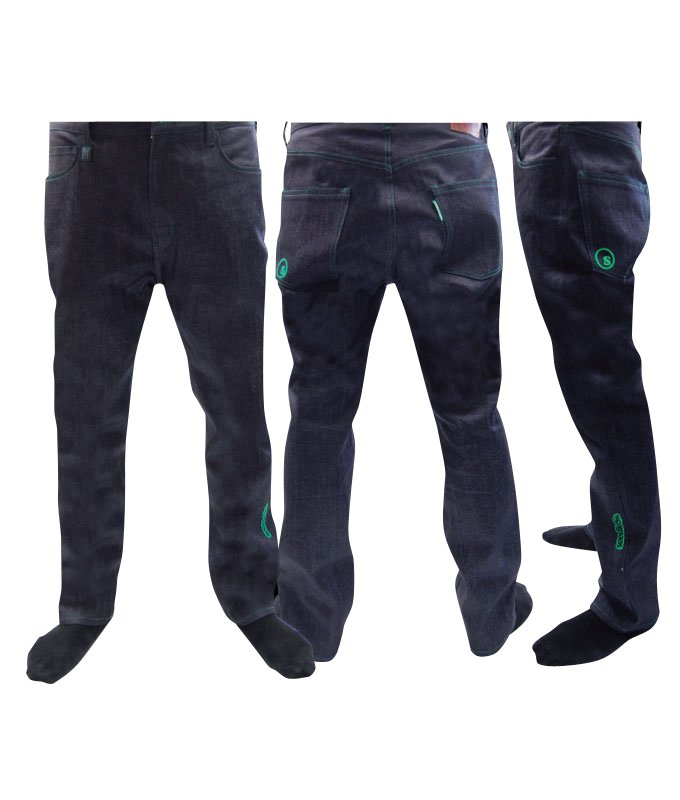 tapered denim pant