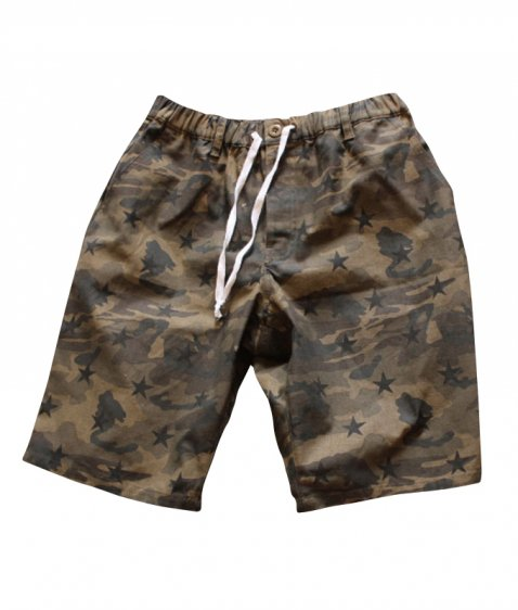 camo with print easy shorts