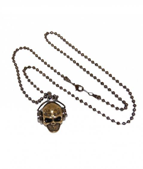 skull headphone necklace
