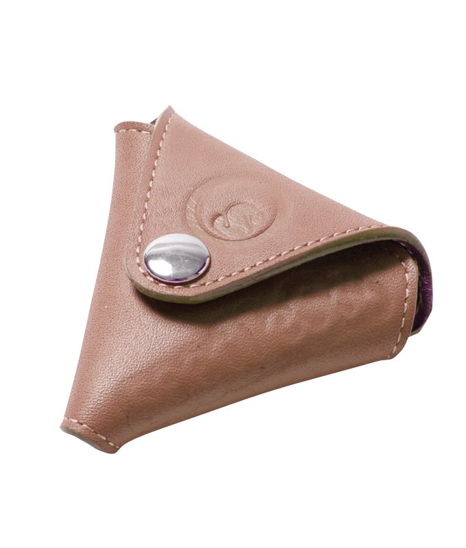 sd leather triangle coin wallet