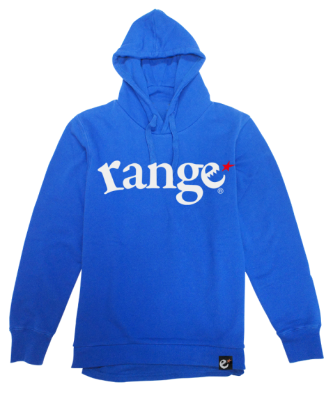 blue layerd pull hoody